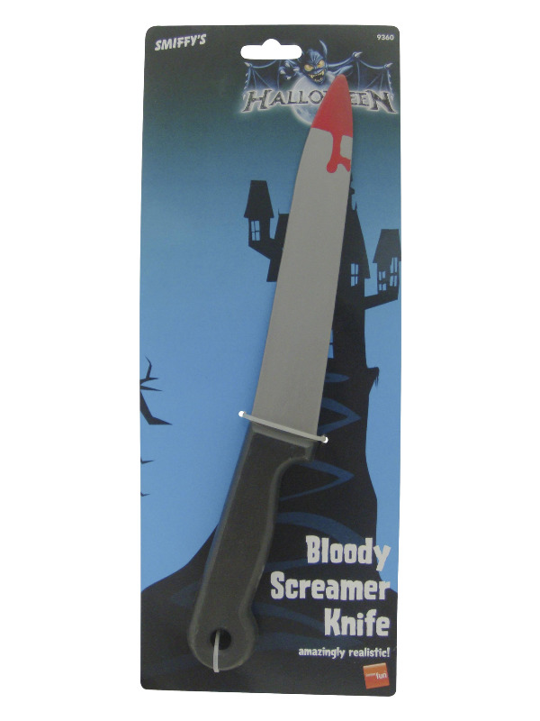 Blood Stained Screamer Knife, Grey, 33cm/13in