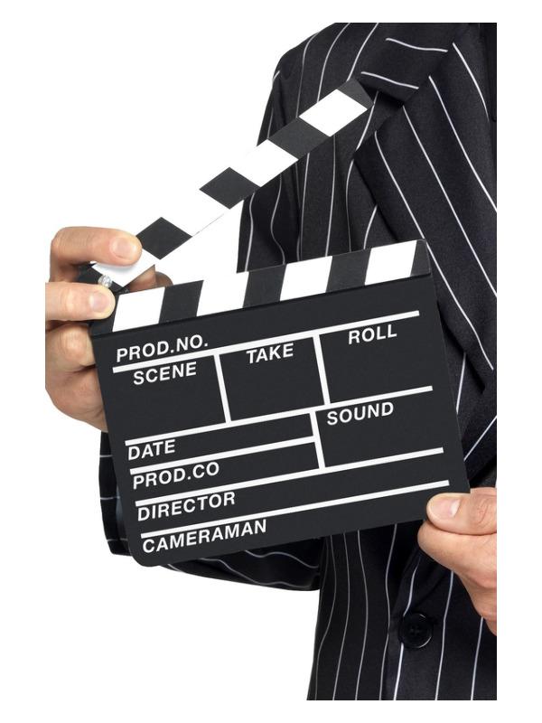 Hollywood Style Clapper Board, Black, 20x20cm/8x8in