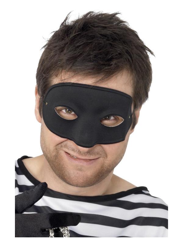 Burglar Eyemask, Black, Covers Nose