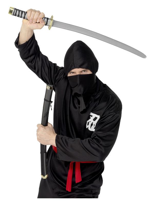 Sword and Scabbard, Grey, Oriental Warrior, 73cm / 29in