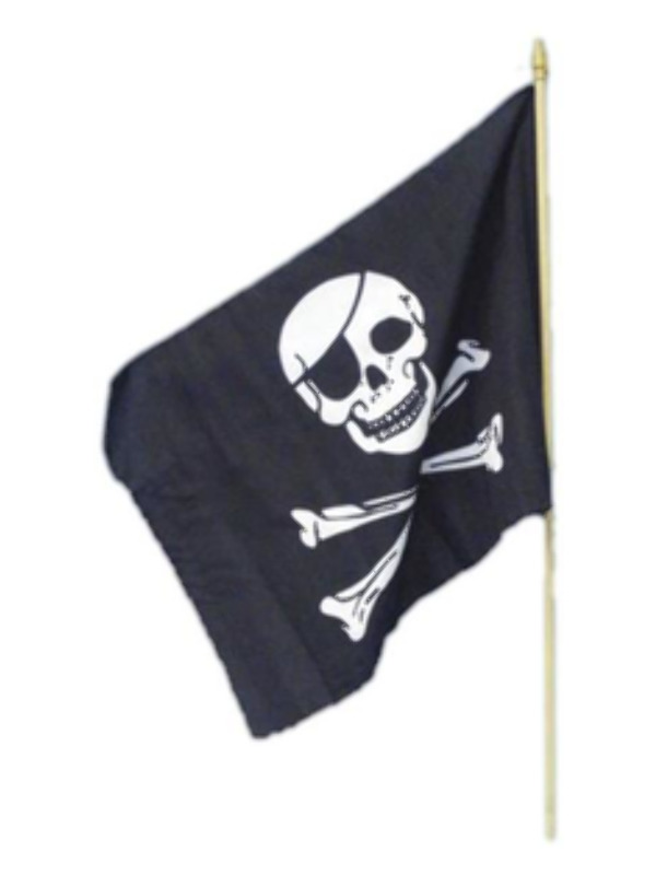 Pirate Flag, 45x30cm / 18inx12in, Black