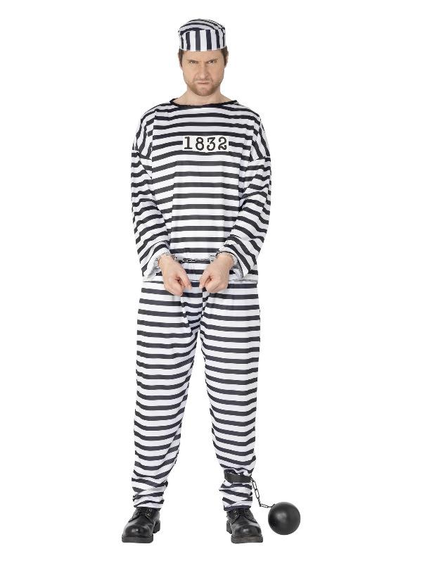 Convict Costume, Black & White
