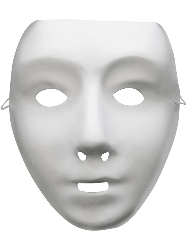 Robot Mask, White, on Elastic