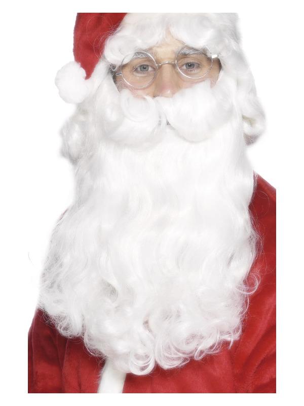 Deluxe Santa Beard, White, 38cm / 15in