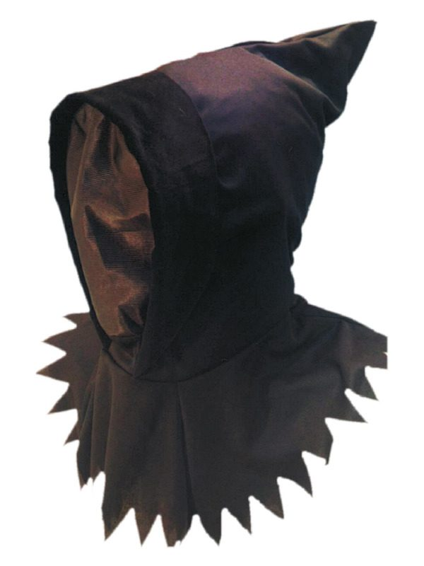 Ghoul Hood & Mask, Black, Overhead