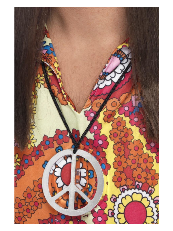 Peace Sign Medallion, Silver