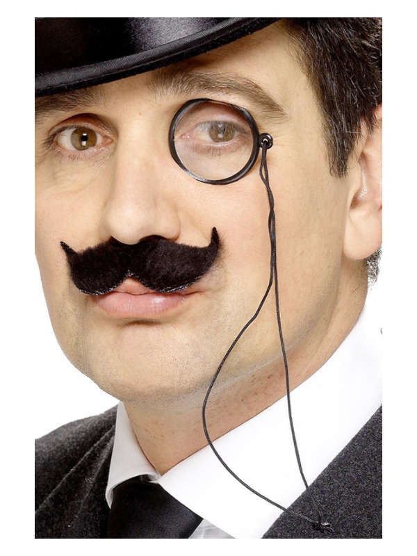 Tales of Old England Monocle, Black, on Cord