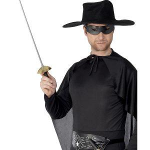 Rapier Sword and Eyemask, Green & Black, 68cm / 27in