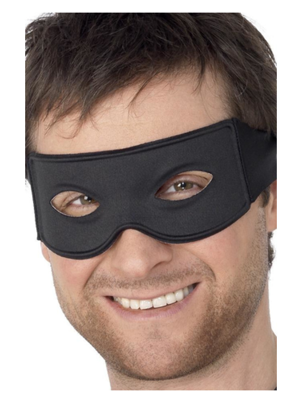 Bandit Eyemask and Tie Scarf, Black