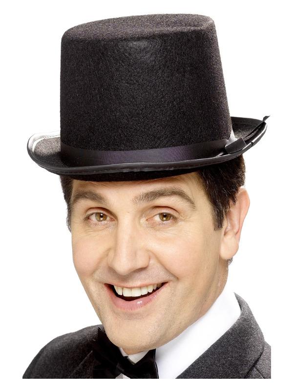 Topper Hat, Black, Felt with Black Band