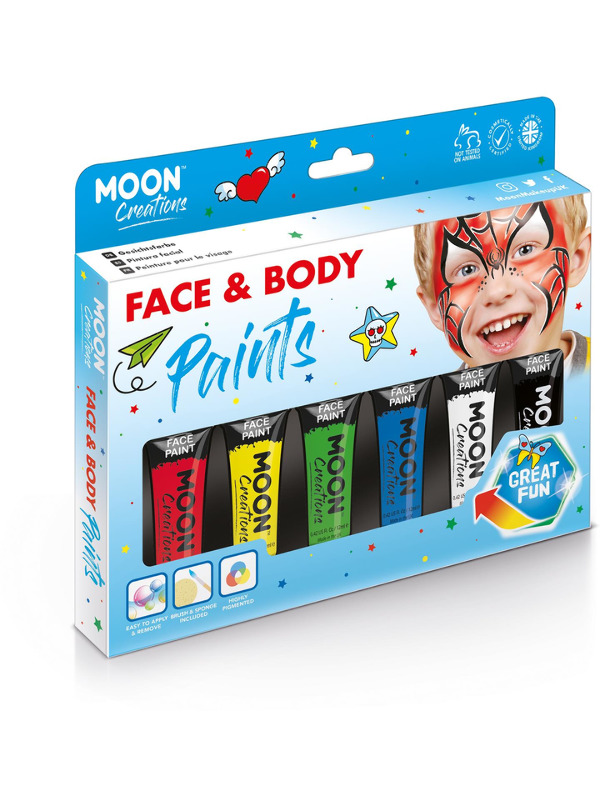 Moon Creations Face & Body Paint, Assorted
