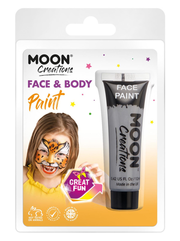 Moon Creations Face & Body Paint, Grey