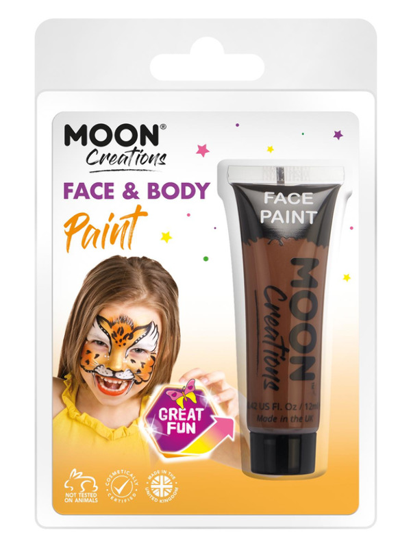Moon Creations Face & Body Paint, Brown