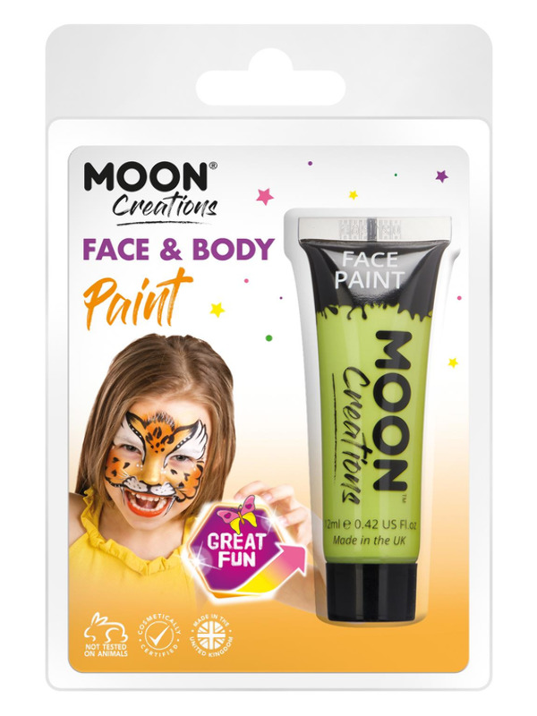 Moon Creations Face & Body Paint, Lime Green