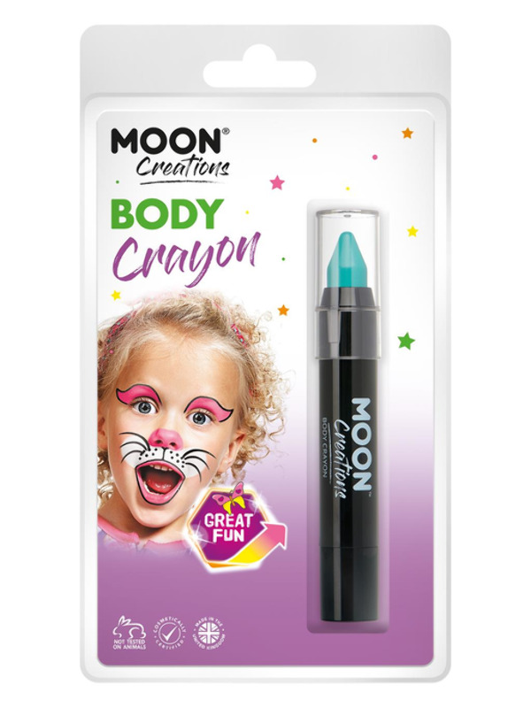 Moon Creations Body Crayons, Turquoise