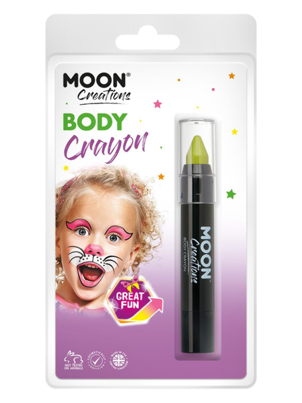Moon Creations Body Crayons, Lime Green