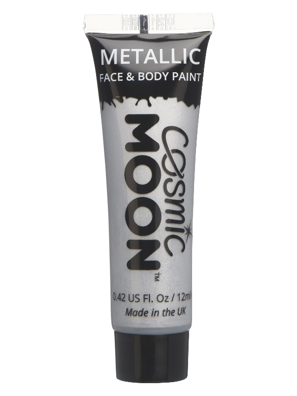 Cosmic Moon Metallic Face & Body Paint, Silver