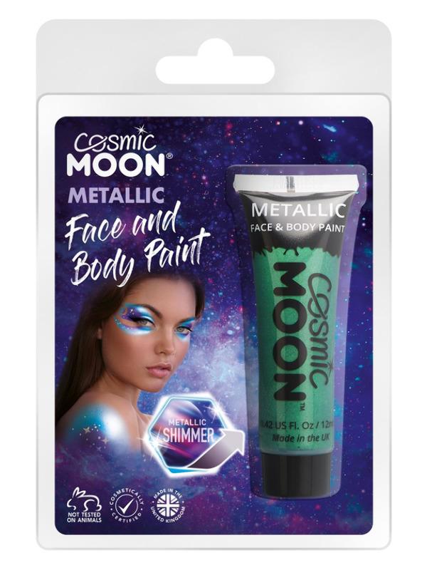 Cosmic Moon Metallic Face & Body Paint, Green