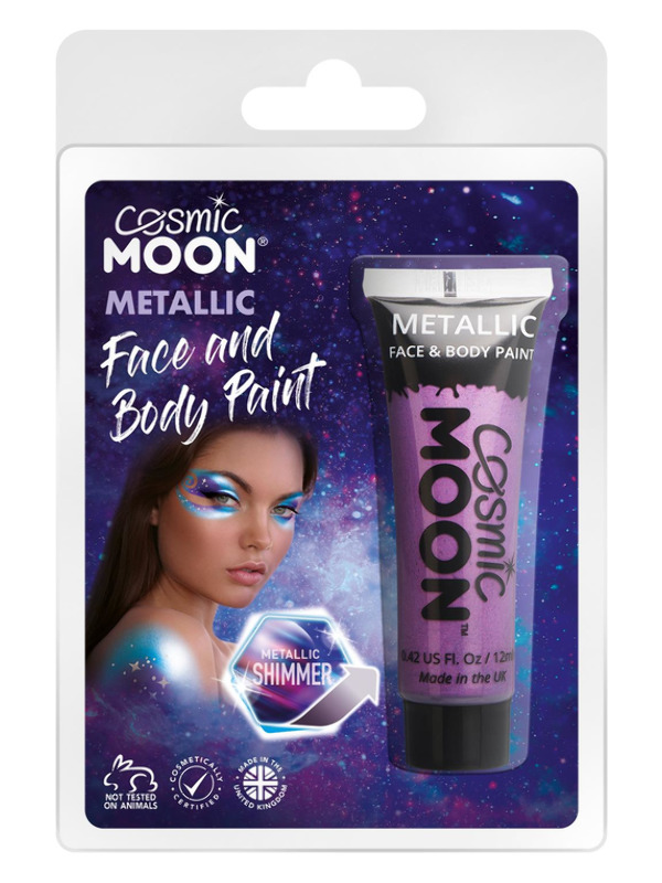 Cosmic Moon Metallic Face & Body Paint, Purple