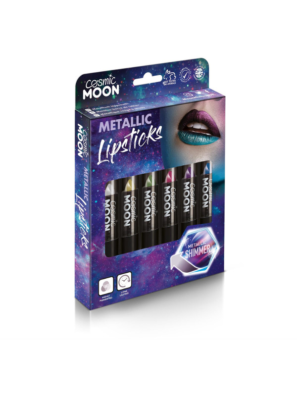 Cosmic Moon Metallic Lipstick, Assorted