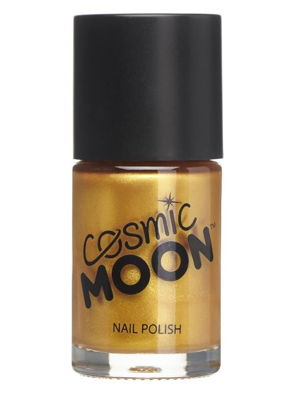 Cosmic Moon Metallic Nail Polish, Gold