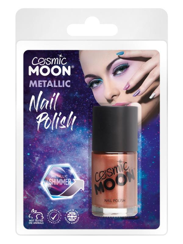 Cosmic Moon Metallic Nail Polish, Rose Gold