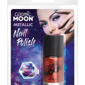 Cosmic Moon Metallic Nail Polish, Red