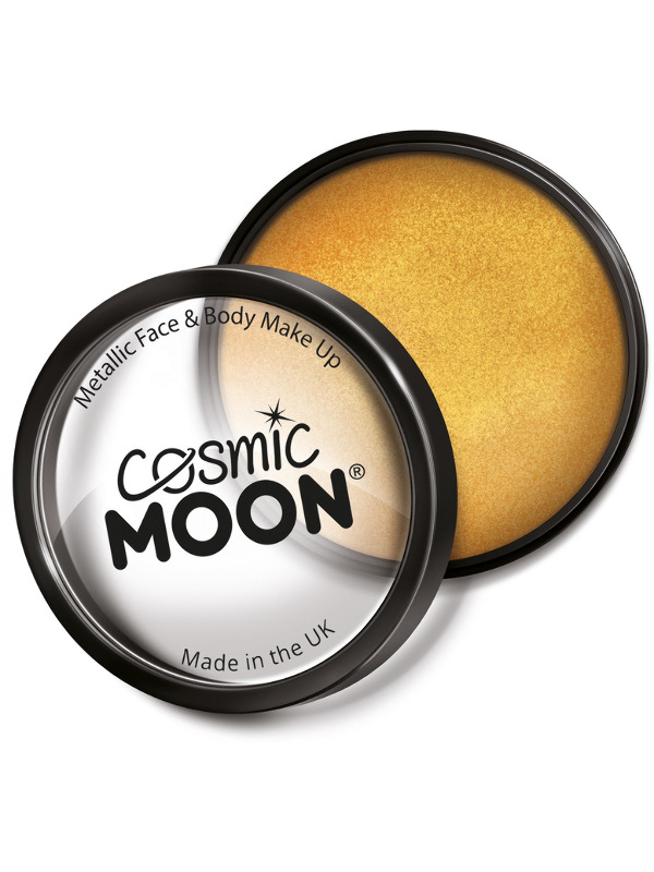 Cosmic Moon Metallic Pro Face Paint Cake Pots, Gol