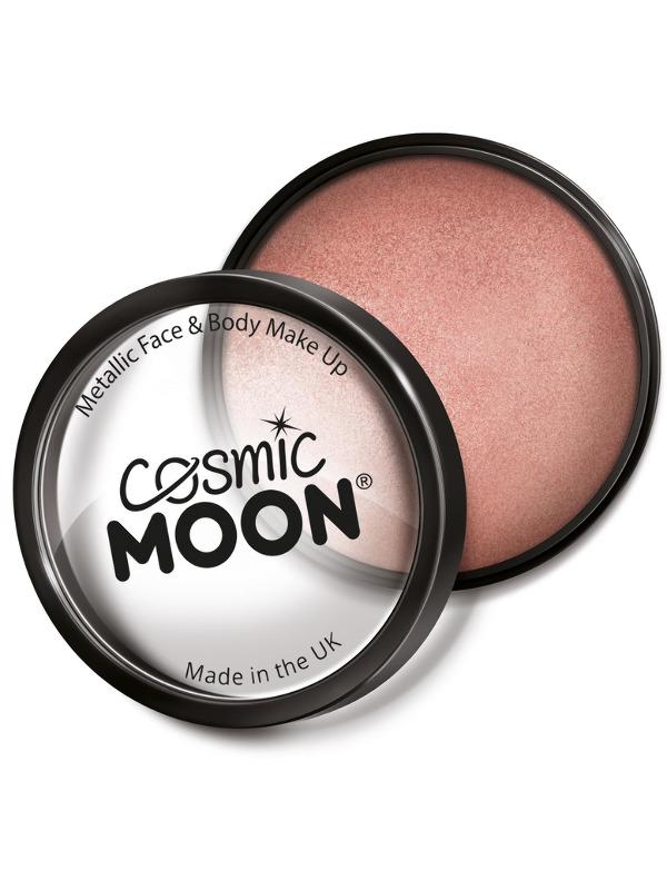 Cosmic Moon Metallic Pro Face Paint Cake Pots, Ros