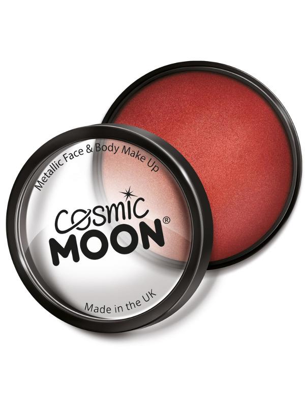 Cosmic Moon Metallic Pro Face Paint Cake Pots, Red