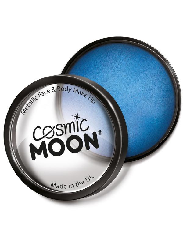Cosmic Moon Metallic Pro Face Paint Cake Pots, Blu
