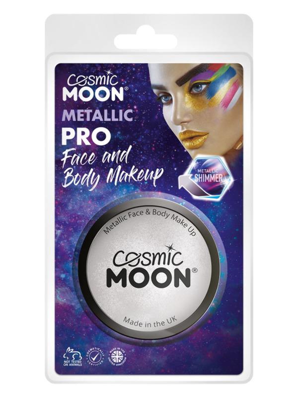 Cosmic Moon Metallic Pro Face Paint Cake Pots, Sil