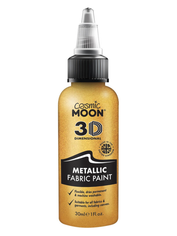 Cosmic Moon Metallic Fabric Paint, Gold