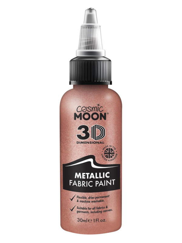 Cosmic Moon Metallic Fabric Paint, Rose Gold