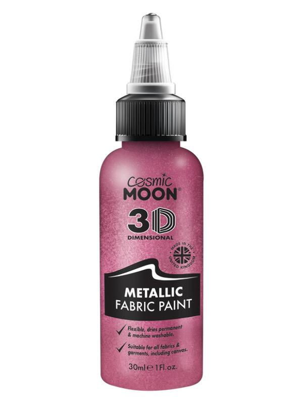 Cosmic Moon Metallic Fabric Paint, Pink