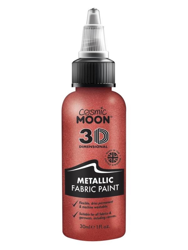 Cosmic Moon Metallic Fabric Paint, Red