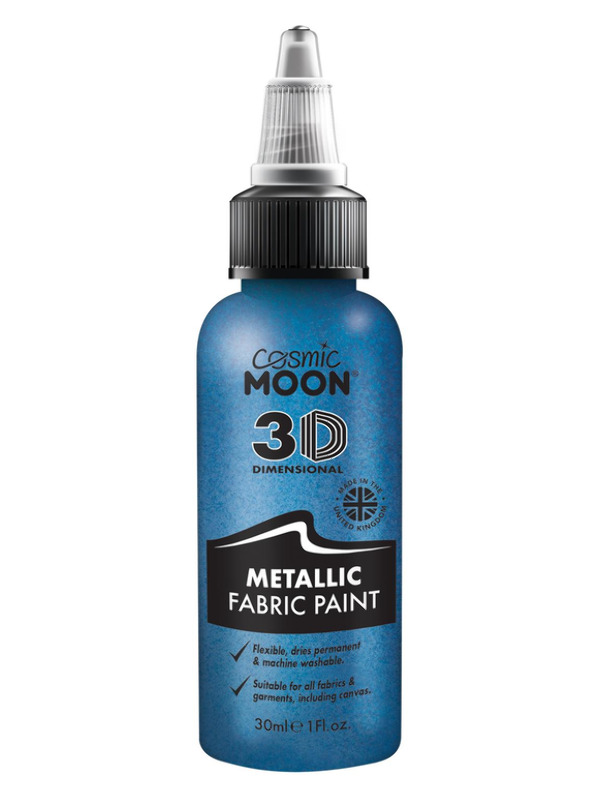 Cosmic Moon Metallic Fabric Paint, Blue