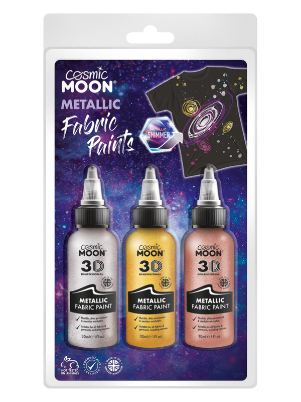 Cosmic Moon Metallic Fabric Paint,