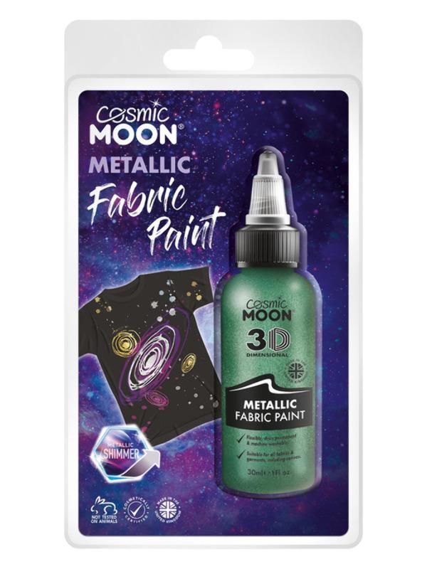 Cosmic Moon Metallic Fabric Paint, Green