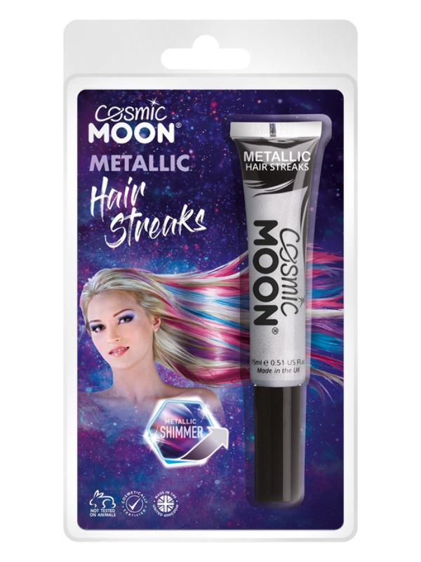 Cosmic Moon Metallic Hair Streaks, Silver