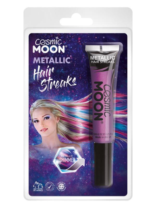 Cosmic Moon Metallic Hair Streaks, Purple
